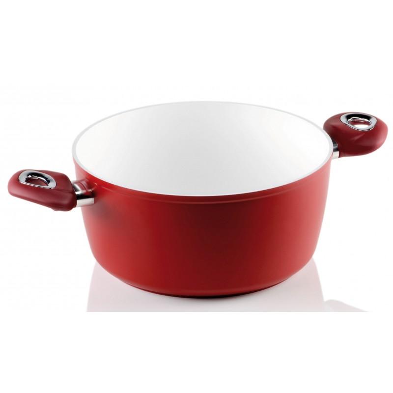 Rondel z dwoma uchwytami Red Ceramic