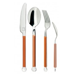 Giannini Mix Collection Cutlery Set 24 pcs 2.5 mm Orange