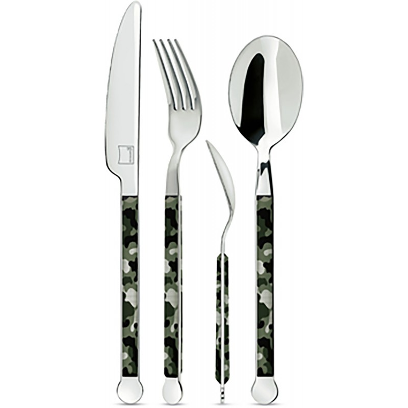 Giannini Mix Collection Cutlery Set 24 pcs 2.5 mm Mimetic Black