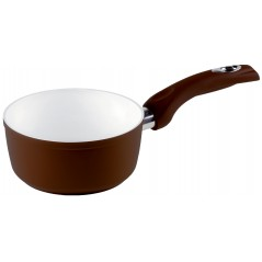 Rondel z jednym uchwytem Brown Ceramic Induction