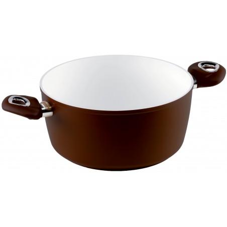 Bialetti Brown Ceramic Induction Rondel na Indukcję z Dwoma Uchwytami