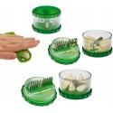 Garlic cutter + peeler-set Knofi