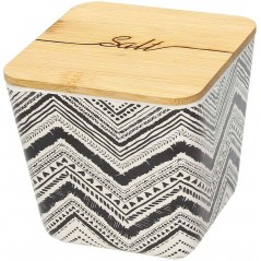Tribal Chic Jar with Cover