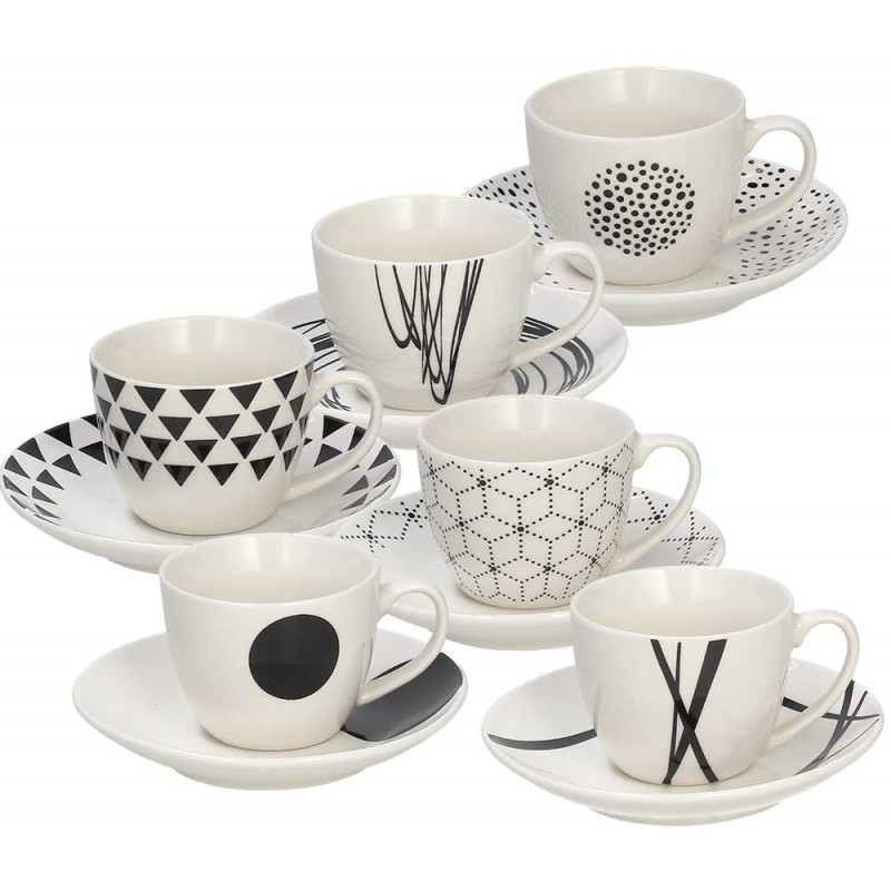 Tognana Graphic 6 Coffee Cup & Saucer Set 80 CC