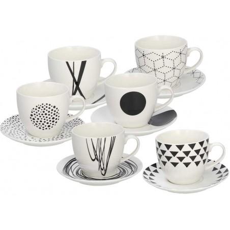 Tognana Graphic 6 Tea Cup & Saucer Set 200 CC