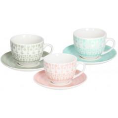 Tognana Gipsy Soft 6 Tea Cup & Saucer Set 250 ml