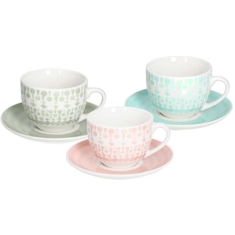 Tognana Gipsy Soft 6 Tea Cup & Saucer Set 250 CC