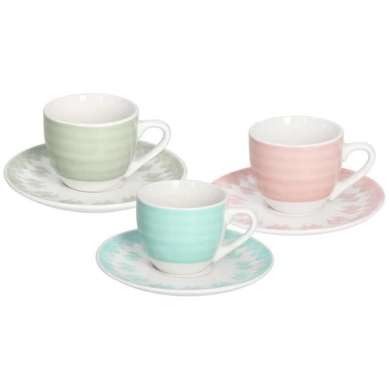 Tognana Gipsy Soft 6 Coffee Cup & Saucer Set 80 CC