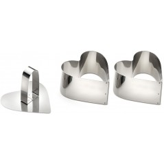 Giannini Set 2 Heart Moulds With Pusher