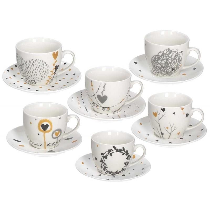 Tognana Texture Goldy Set of Tea Cups 270 cc