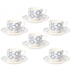 Tognana Contemporary Down Town Set of Coffee Cups 90 cc