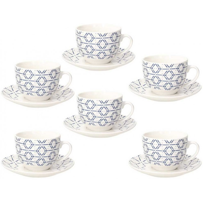 Tognana Contemporary Down Town Set of Tea Cups 270 cc