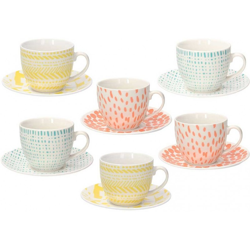 Tognana Street Art Iris Agua Set of Tea Cups 200 cc