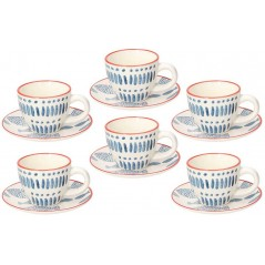 Tognana Saint Tropez Tirreno Set of Coffee Cups 95 cc