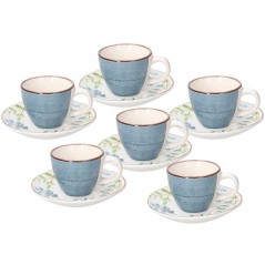 Tognana Pop Flower Gaia Set of Coffee Cups 90 cc