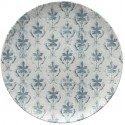 Tognana Fontebasso Sea Side Maiolica Grigio Dinner Plate