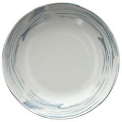 Tognana Fontebasso Sea Side Maiolica Grigio Soup Plate