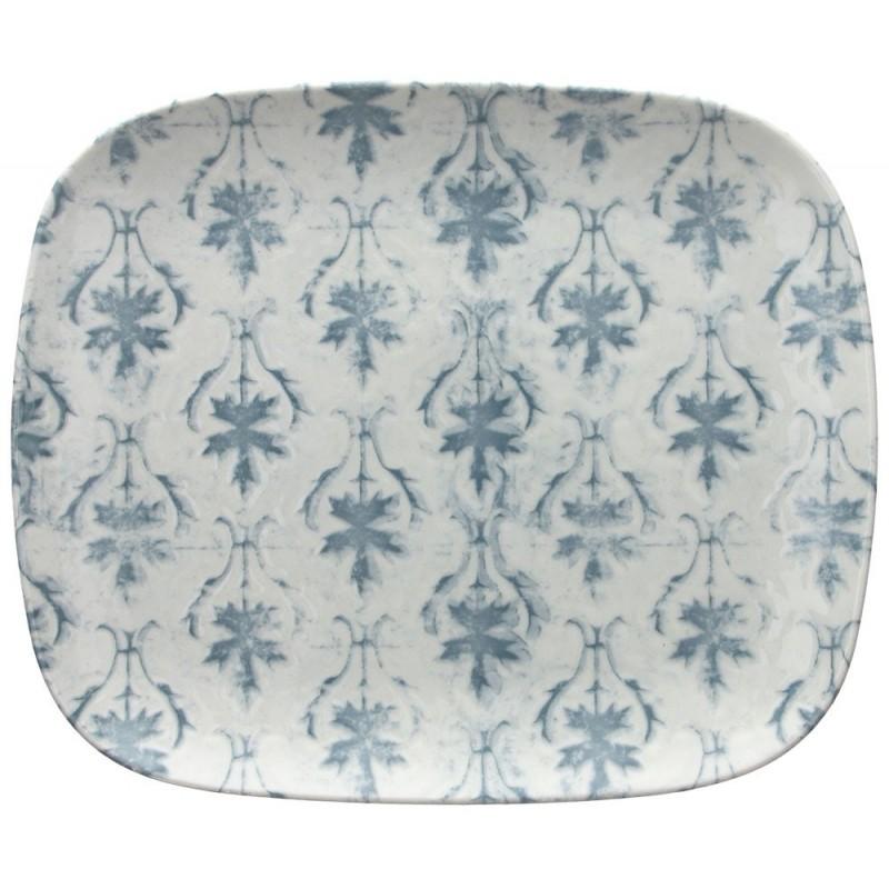 Tognana Fontebasso Sea Side Maiolica Grigio Rectangular Plate