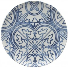 Tognana Fontebasso Sea Side Maiolica Dinner Plate