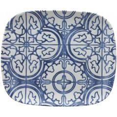 Tognana Fontebasso Sea Side Maiolica Rectangular Plate