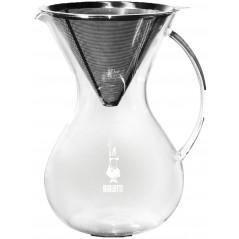 Bialetti Pour Over Stainless Steel with Glass Jar Zaparzacz Stal nierdzewna ze szklanym słojem