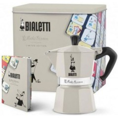 Bialetti Moka Express Coffe-Maker + Coffee Can + Notes