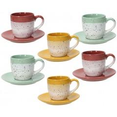 Tognana Layers Set 6 Tea Cup & Saucer 200 ml