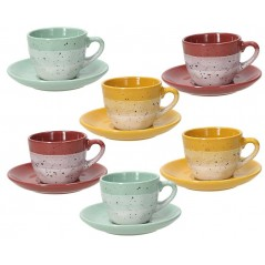 Tognana Layers Set 6 Coffee Cup & Saucer 90 ml