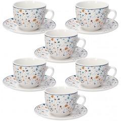 Tognana Terazzo Set 6 Tea Cup & Saucer 260 ml