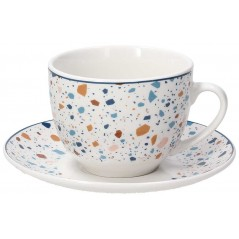 Tognana Terrazzo Komplet 6 Filiżanek Z Podstawkami Tea 260 ml