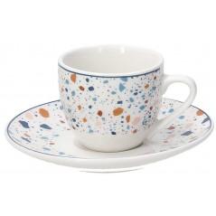 Tognana Terrazzo Set 6 Coffee Cup & Saucer 80 ml