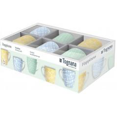 Tognana Happiness Komplet 6 Filiżanek Z Podstawkami Coffee 80 ml