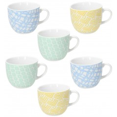 Tognana Happiness Set 6 Tea Cup & Saucer 200 ml