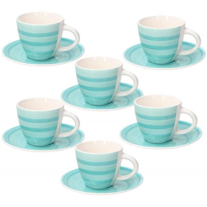 Tognana Spin Komplet 6 Filiżanek Z Podstawkami Tea 190 ml