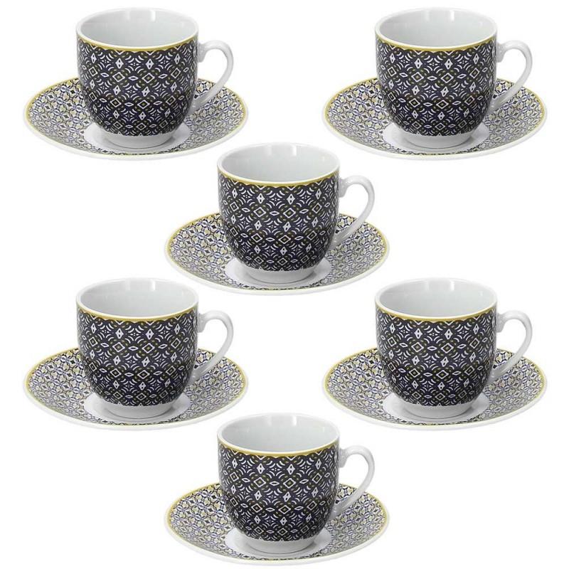 Tognana Siracusa Komplet 6 Filiżanek Z Podstawkami Coffee 80 ml