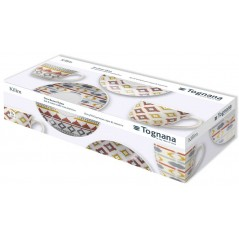 Tognana Iris Kilim Set 6 Tea Cup & Saucer 200 ml