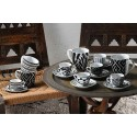 Tognana Mandala Black Set 6 Coffee Cup & Saucer 110 ml