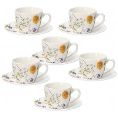 Tognana Audrey Set of 6 Coffee Cups with Saucer