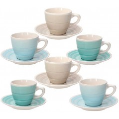 Tognana Almeida Set of 6 Tea Cups with Saucer