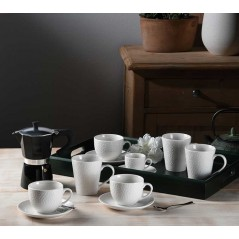 Tognana Golf Komplet 6 Filiżanek z Podstawkami Coffee 90 ml