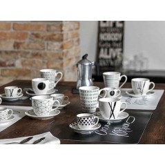Tognana Graphic 6 Coffee Cup & Saucer Set 80 ml