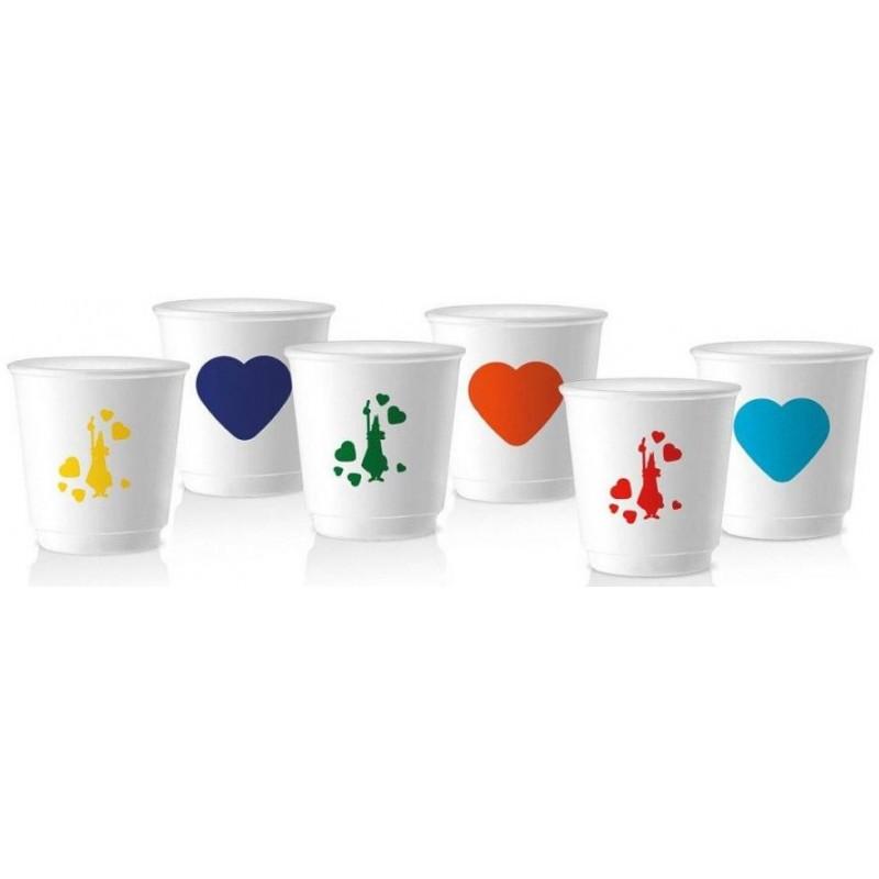 Bialetti Pop Cuore Set of 6 Cups