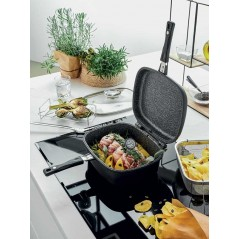 Tognana Sphera Deep Frying Pan Folding Square Double with Accessories