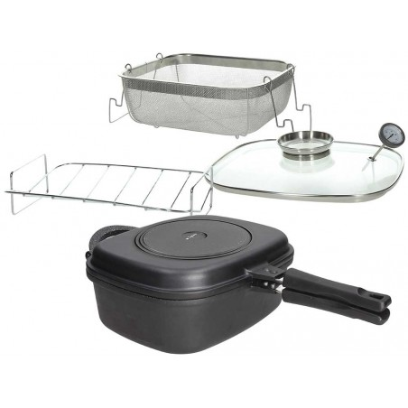 Tognana Sphera Die Cast Square Oven With Deep Double Pan And Accessories